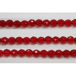 30 perles verre facettes rubis 8mm