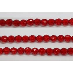 30 perles verre facettes rubis 10mm
