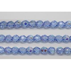 30 perles verre facettes saphir A/B 6mm