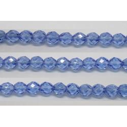 30 perles verre facettes saphir lustre 12mm