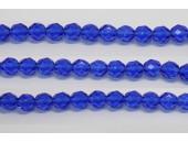 30 perles verre facettes saphir 16mm