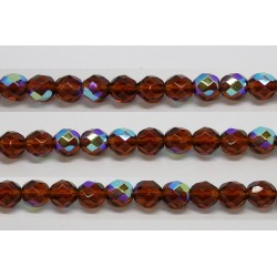 60 perles verre facettes topaze A/B 4mm