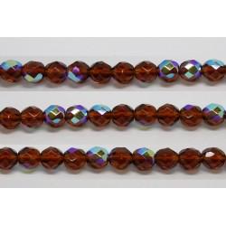 60 perles verre facettes topaze A/B 5mm