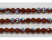 30 perles verre facettes topaze A/B 6mm