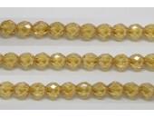 60 perles verre facettes topaze clair lustre 3mm