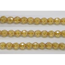 60 perles verre facettes topaze clair lustre 4mm