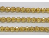60 perles verre facettes topaze clair lustre 5mm