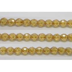 30 perles verre facettes topaze clair lustre 8mm