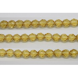 60 perles verre facettes topaze clair 4mm