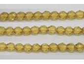 30 perles verre facettes topaze clair 10mm