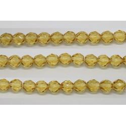 30 perles verre facettes topaze clair 12mm
