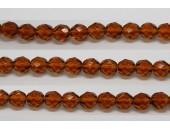 60 perles verre facettes topaze 4mm