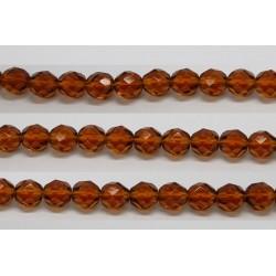 30 perles verre facettes topaze 6mm