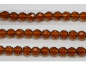30 perles verre facettes topaze 16mm