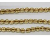 60 perles verre facettes topaze trou cuivre 4mm