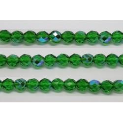 30 perles verre facettes vert A/B 6mm