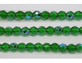 30 perles verre facettes vert A/B 8mm