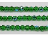 30 perles verre facettes vert A/B 10mm