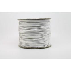 100 metres lacet coton cire 0.8mm blanc