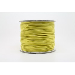 100 metres lacet coton cire 0.8mm jaune