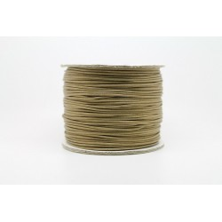 100 metres lacet coton cire 0.8mm beige