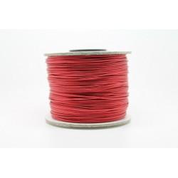 100 metres lacet coton cire 0.8mm rouge