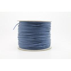 100 metres lacet coton cire 0.8mm bleu marine