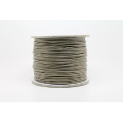 100 metres lacet coton cire 0.8mm Taupe