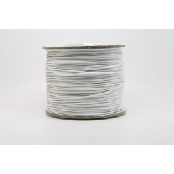 100 metres lacet coton cire 1mm blanc