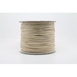 100 metres lacet coton cire 1mm naturel