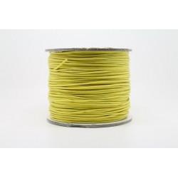 100 metres lacet coton cire 1mm jaune