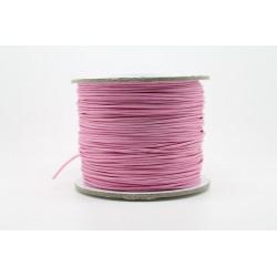 100 metres lacet coton cire 1mm rose