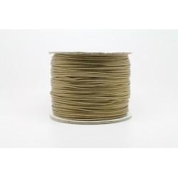 100 metres lacet coton cire 1mm beige