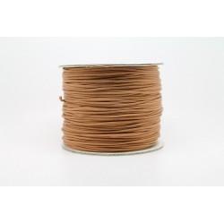 100 metres lacet coton cire 1mm tabac