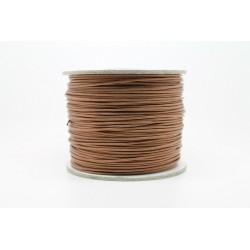 100 metres lacet coton cire 1mm marron clair