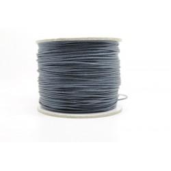 100 metres lacet coton cire 1mm bleu fonce