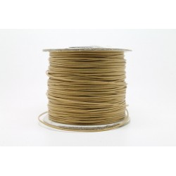 100 metres lacet coton cire 1mm beige clair