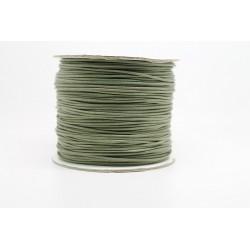 100 metres lacet coton cire 1mm vert olive