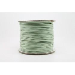 100 metres lacet coton cire 1mm vert clair