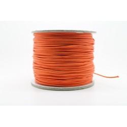 100 metres lacet coton cire 1mm orange