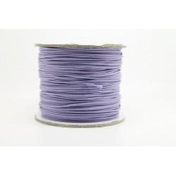 100 metres lacet coton cire 1mm pourpre