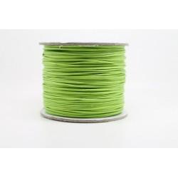 100 metres lacet coton cire 1mm vert pomme