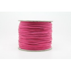 100 metres lacet coton cire 1mm Fuschia