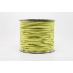 100 metres lacet coton cire 1mm Jaune Citron