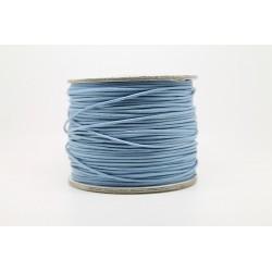 100 metres lacet coton cire 1mm Bleu comete