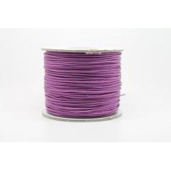 100 metres lacet coton cire 1mm Violet Clair