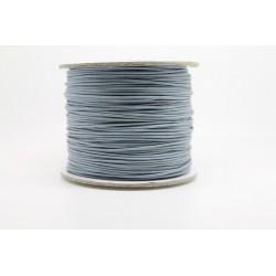 100 metres lacet coton cire 1mm gris clair