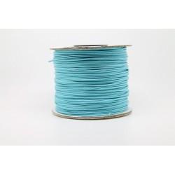 100 metres lacet coton cire 2mm turquoise