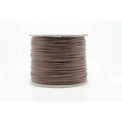 100 metres lacet coton cire 2mm marron fonce