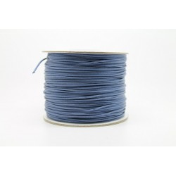 100 metres lacet coton cire 2mm bleu marine